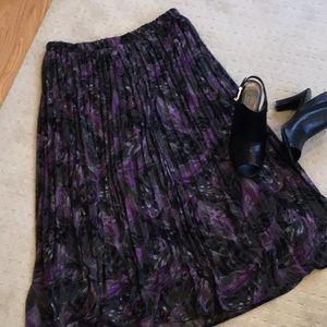 Gray/Purple Pleated Skirt